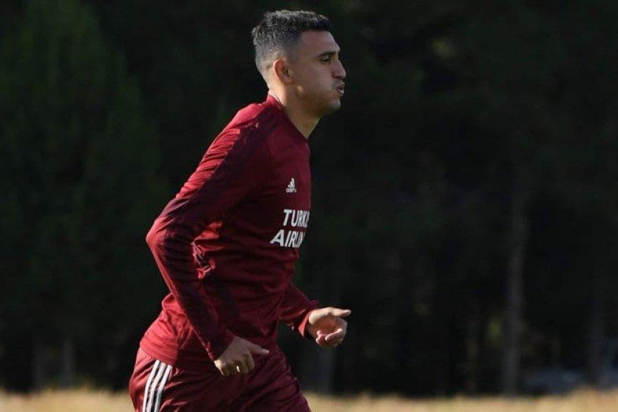 Matías Suárez tiene sinovitis y será baja en River ante Atlético Tucumán