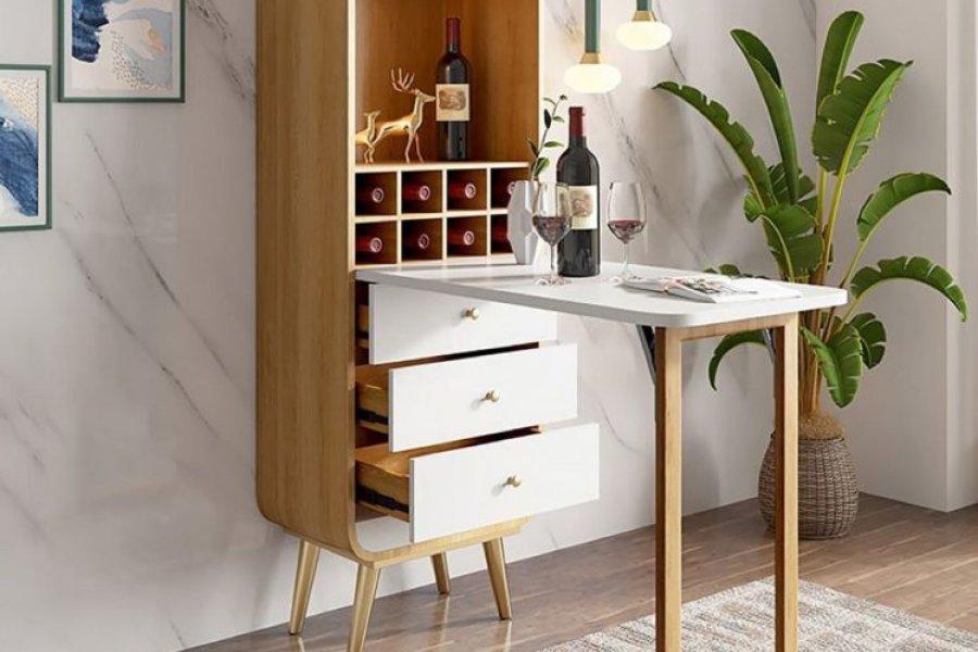 8 diseños de mesas plegables para aprovechar espacio en la cocina