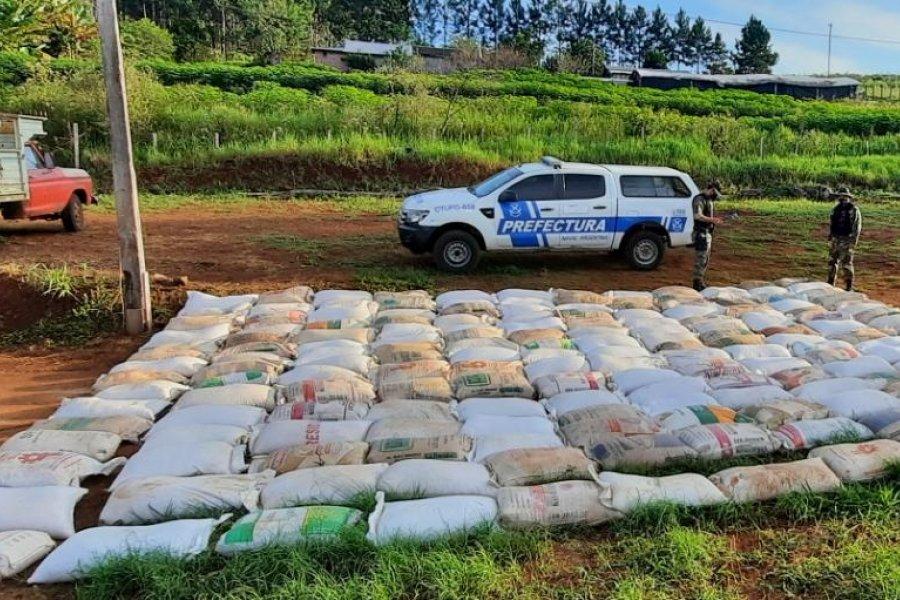 Prefectura secuestró más de nueve toneladas de granos de soja