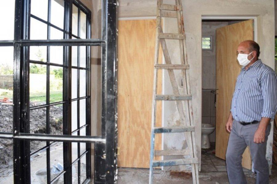 Mercedes: El Intendente supervisó la construcción de la Biblioteca