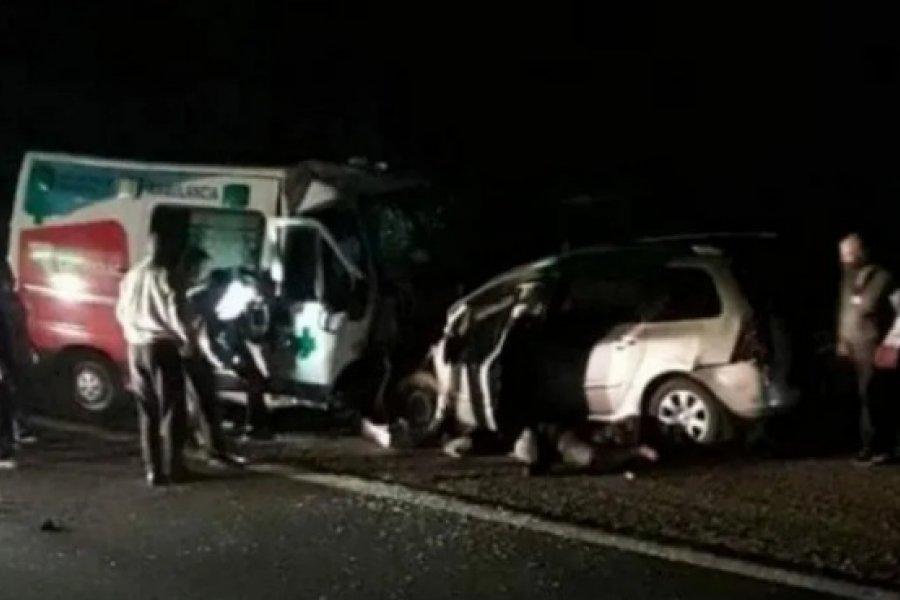 La Rioja: Nueve muertos por un choque frontal entre un auto y una ambulancia