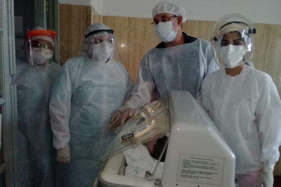 Mercedeña con COVID dio a luz en el Hospital de Campaña