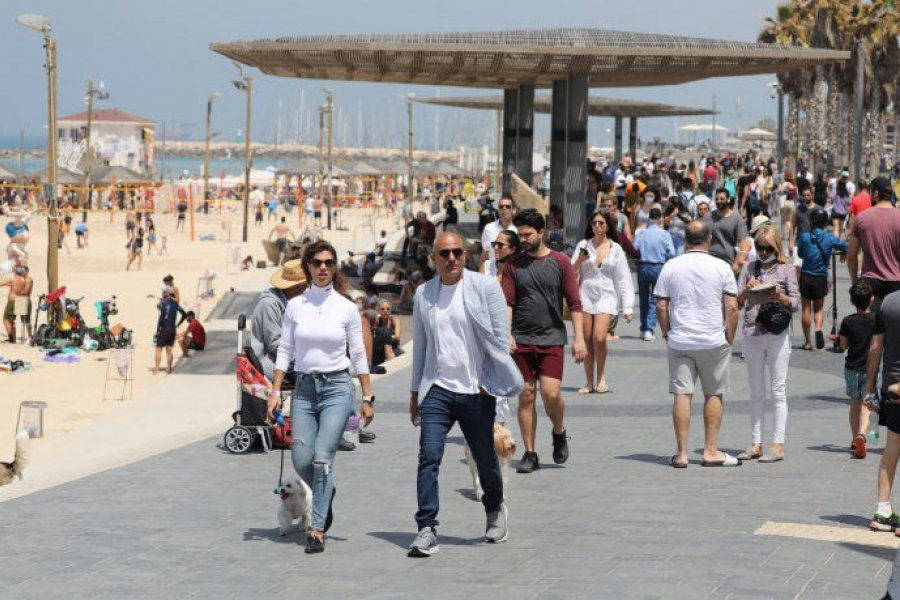 Israel suspende el uso obligatorio del barbijo en espacios públicos