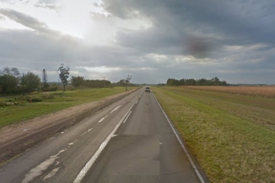 Tres heridos luego de un violento choque entre dos motos en Ruta 12