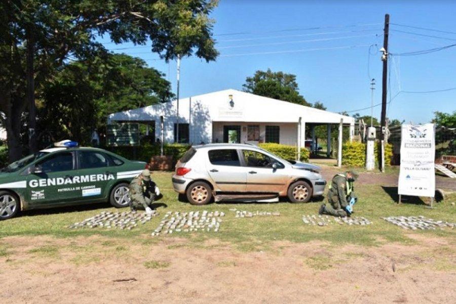 Corrientes: Gendarmes hallaron 71 kilos de marihuana en un automóvil