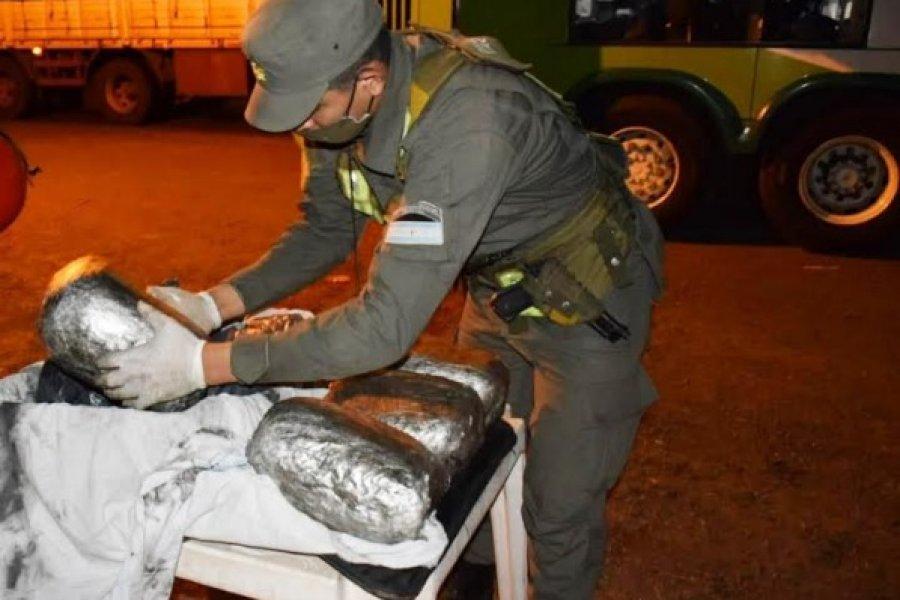 Corrientes: Pasajero trasladaba 6 kilos de marihuana entre sus pertenencias