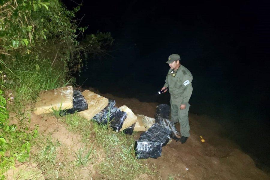 Hallaron 249 kilos de marihuana en cercanías a la costa del Río Paraná