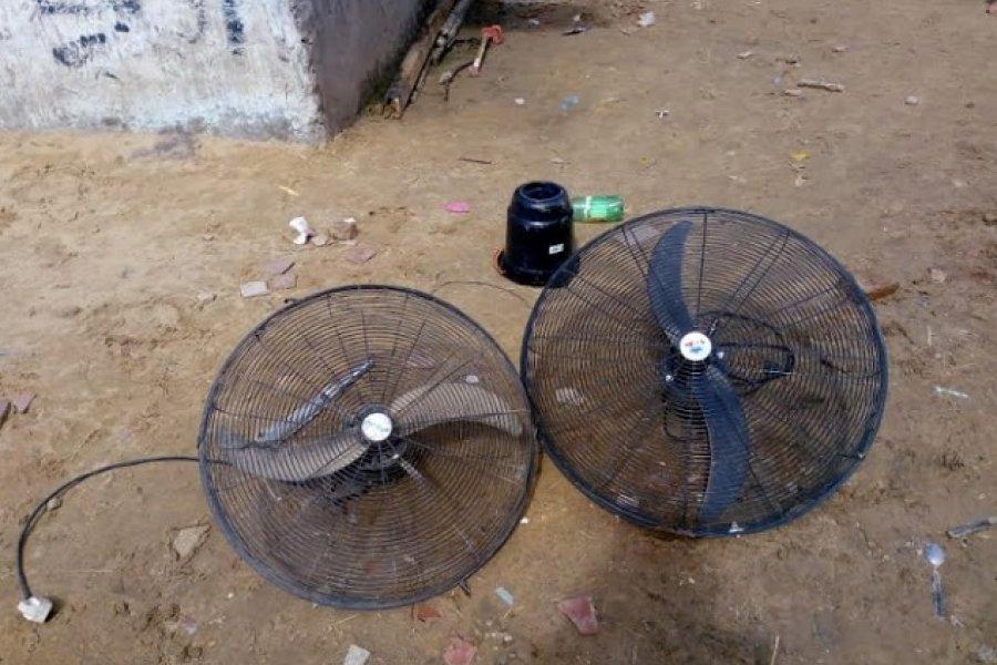 Policías recuperaron ventiladores sustraídos de un colegio