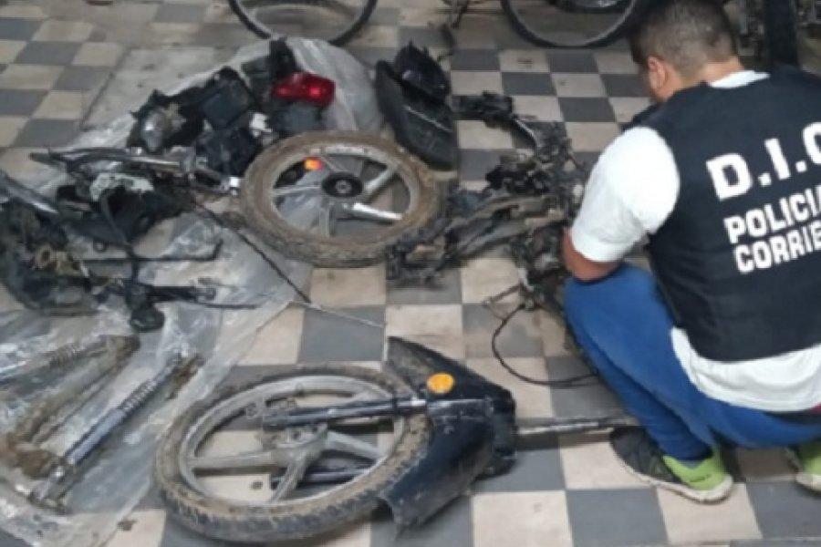 Recuperan una moto robada: Estaba desarmada y lista para ser comercializada