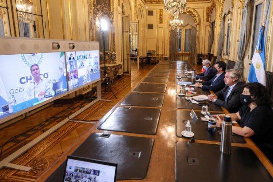 Mientras ultima medidas, Fernández analizó con 12 gobernadores la suba de casos