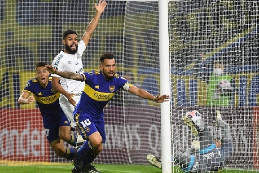 Boca venció con autoridad a Santos y se afirmó en la cima del Grupo C