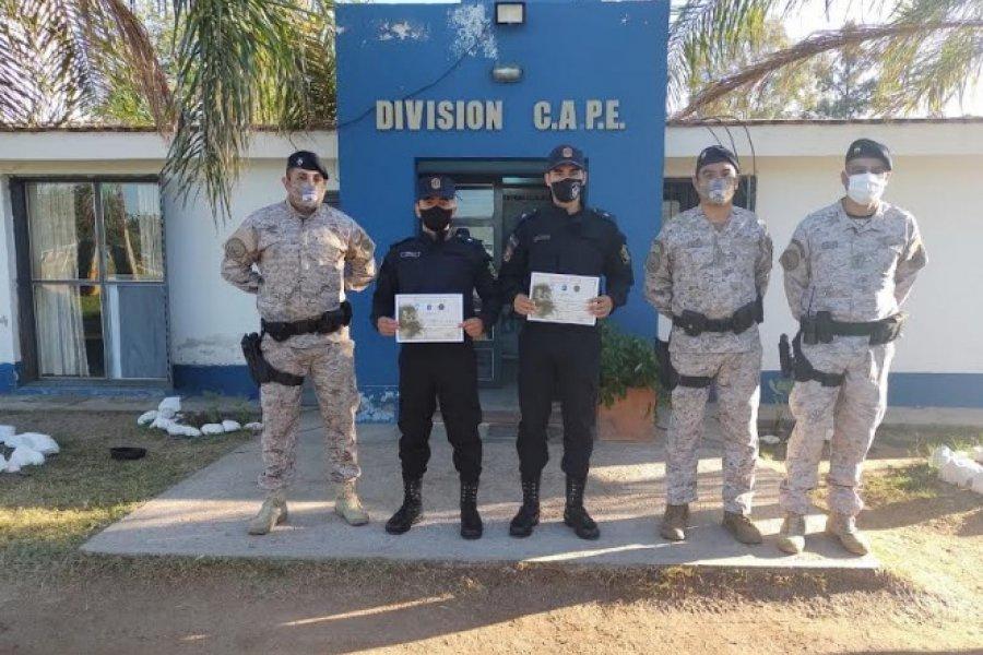Dos oficiales de la Policía de Corrientes realizaron una importante capacitación