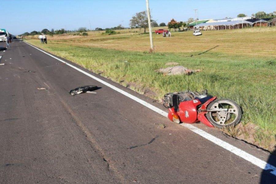 Un muerto tras choque entre dos motos en Ruta 12