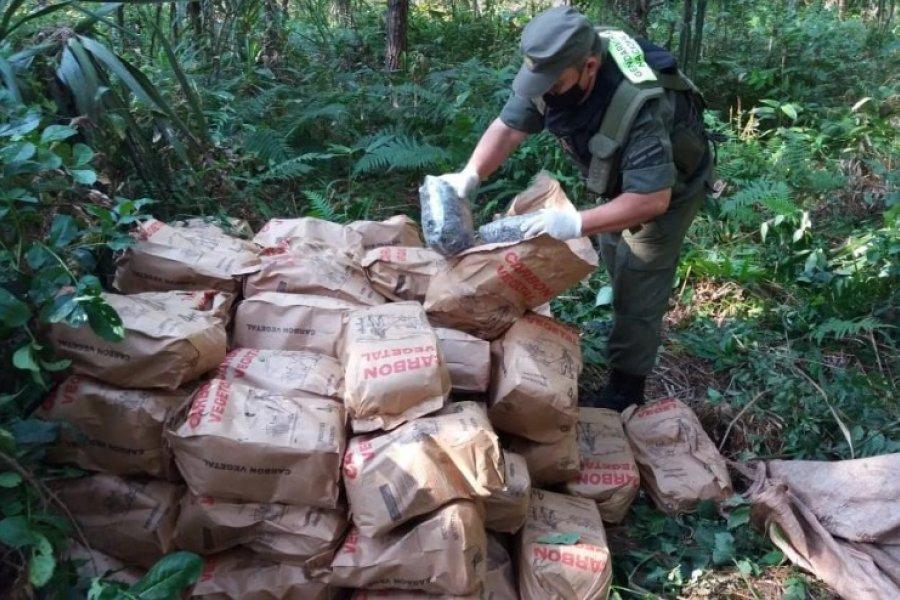Misiones: Descubren 216 kilos de marihuana dentro de bolsas de carbón