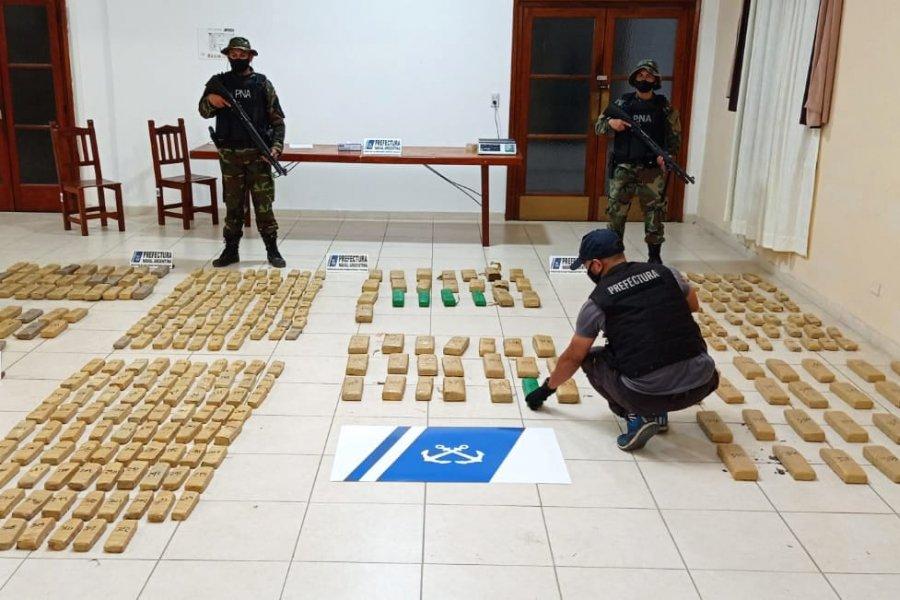 Incautaron más de 322 kilos de marihuana en Itatí y El Perichón