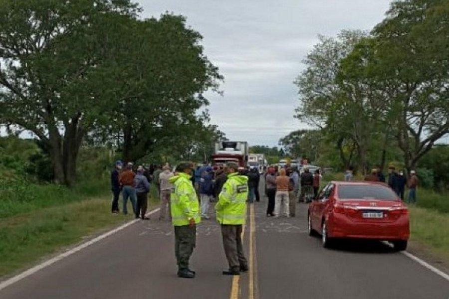 Tabacaleros goyanos vuelven a cortar el tránsito en Ruta 12