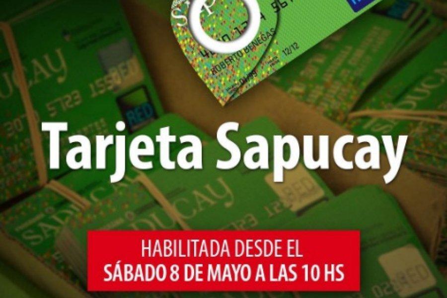 Desde este sábado se habilitan las tarjetas Sapucay