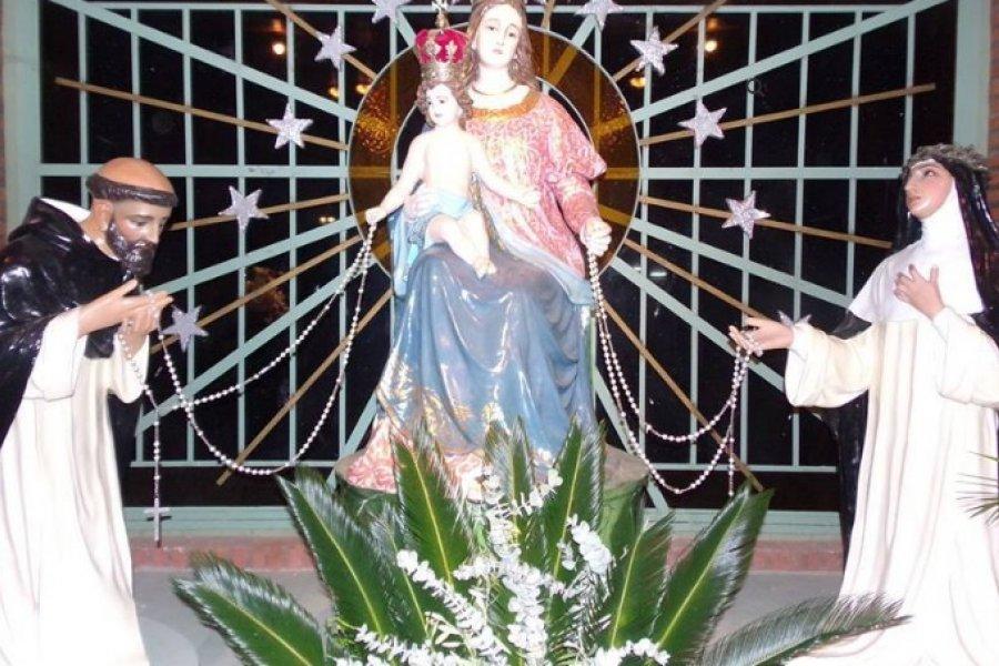Caravana y misa para celebrar a Nuestra Señora de Pompeya
