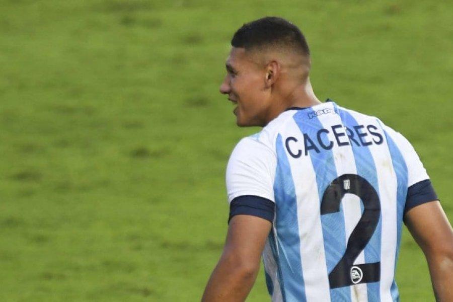 Problemas en Racing: Cáceres se lesionó y no viaja a Perú