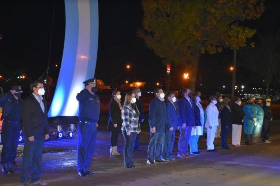 Con una vigilia, Curuzú Cuatiá conmemoró los 208 años del Himno Nacional Argentino