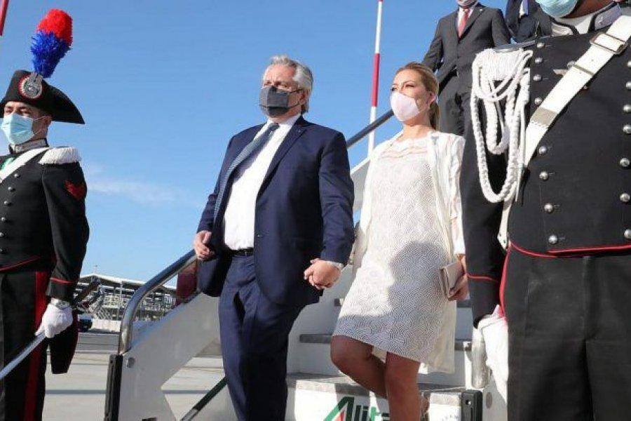 Alberto Fernández llegó a Roma y mañana se reúne con el Papa Francisco