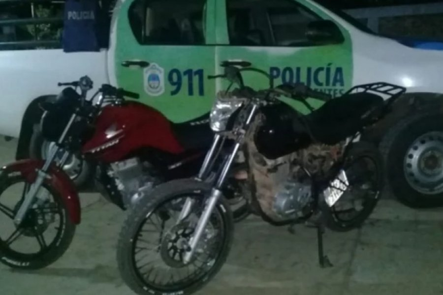 Recuperaron dos motos sustraídas