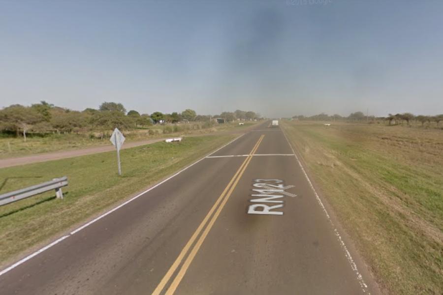 Trágico: Atropelló y mató a un peatón en la Ruta 123