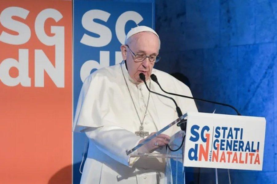 Francisco destaca la importancia de la familia y advierte: Sin natalidad no hay futuro