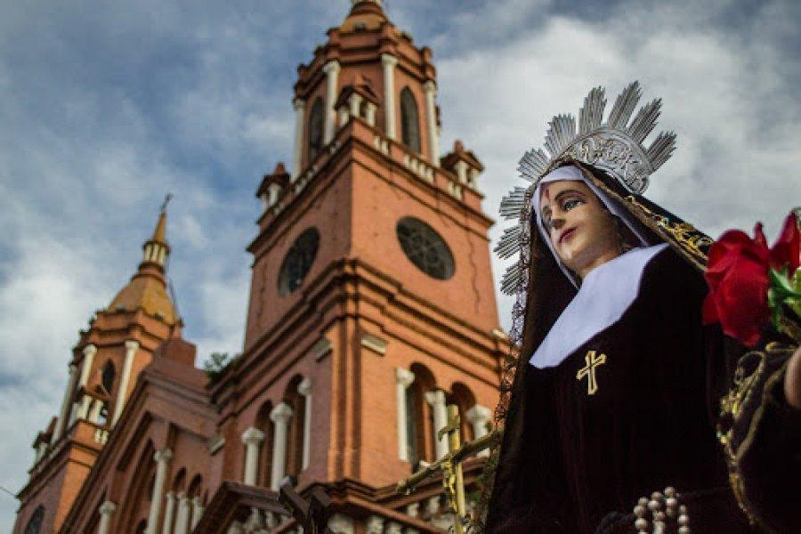 Sin caravana náutica, comenzaron los festejos por Santa Rita