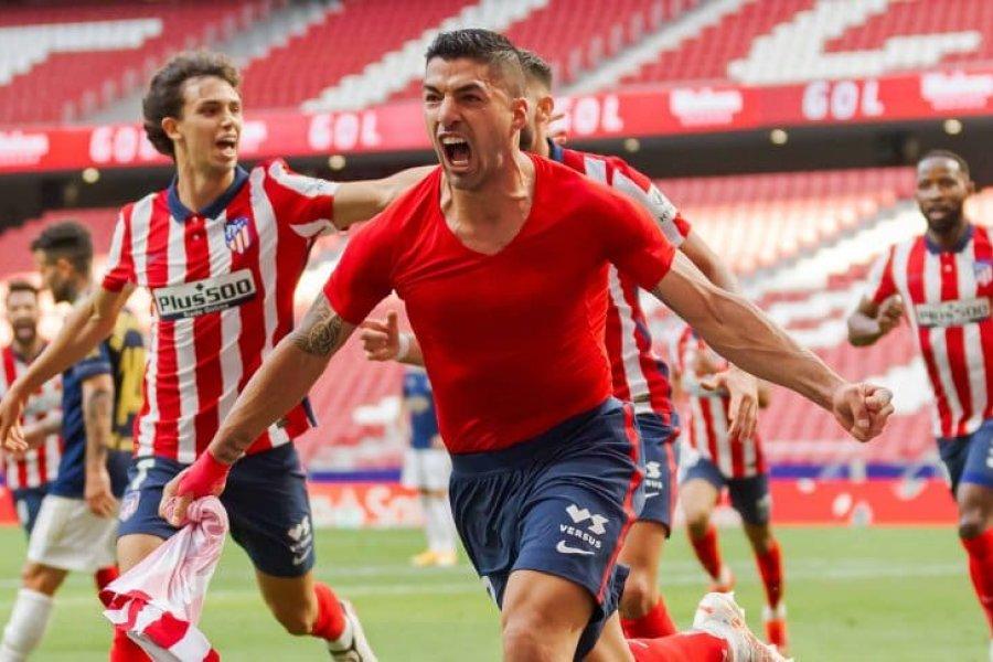Ganó el Atlético de Madrid y sigue en la cima