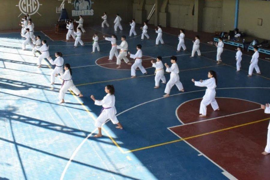Tras más de un año el karate tuvo volvió a reunirse