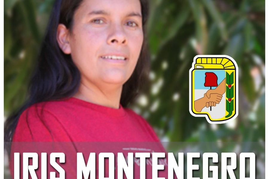 Masiva aceptación a Iris Montenegro