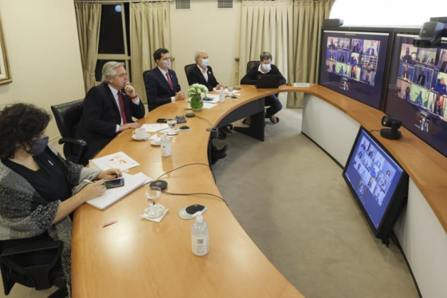 El Presidente continúa las reuniones con gobernadores antes de definir las nuevas medidas