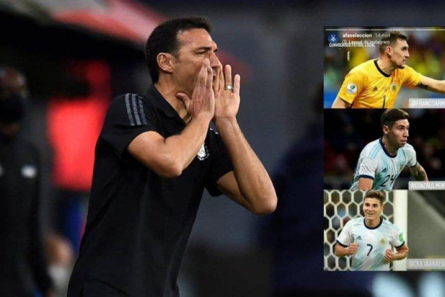 Los convocados del fútbol local a la Selección: Armani, Montiel y Julián Álvarez