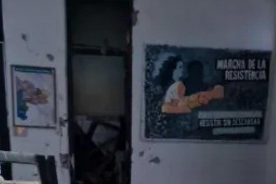 Atacaron con explosivos la sede del Frente de Todos en Bahía Blanca