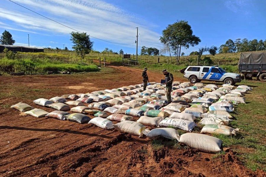 Transporte ilegal de granos: la Prefectura secuestró casi 16 toneladas de maíz