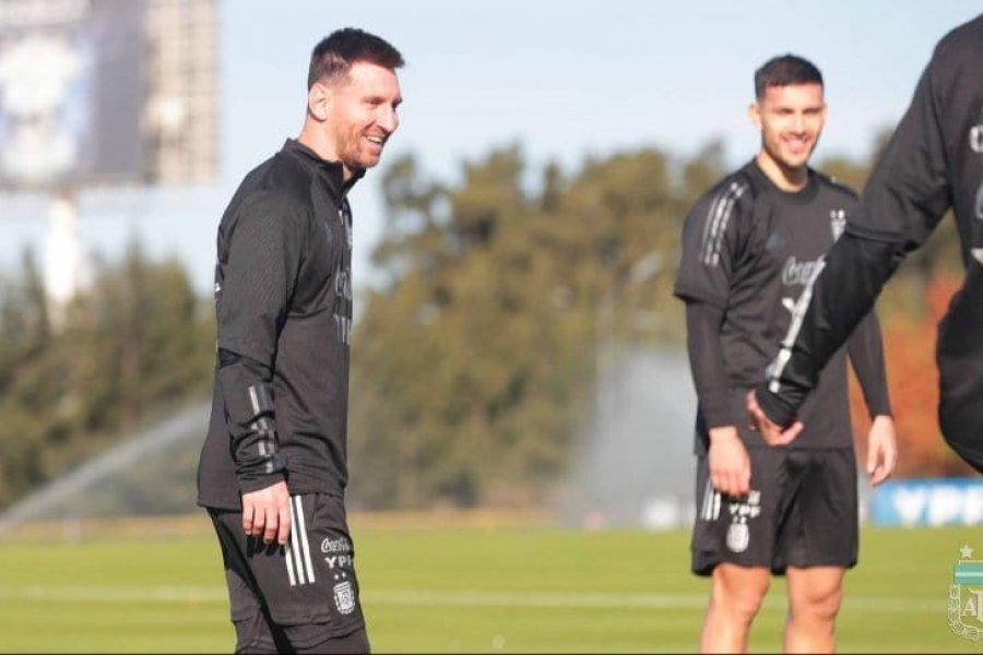 Selección Argentina: Lionel Messi, enchufado en el predio de Ezeiza