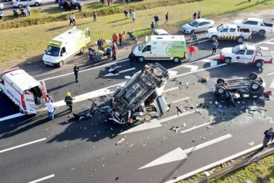 Fuerte accidente en cadena dejó un muerto y varios heridos