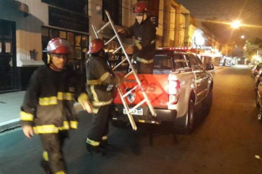 Falsa alarma de incendio de un local generó alerta en el microcentro