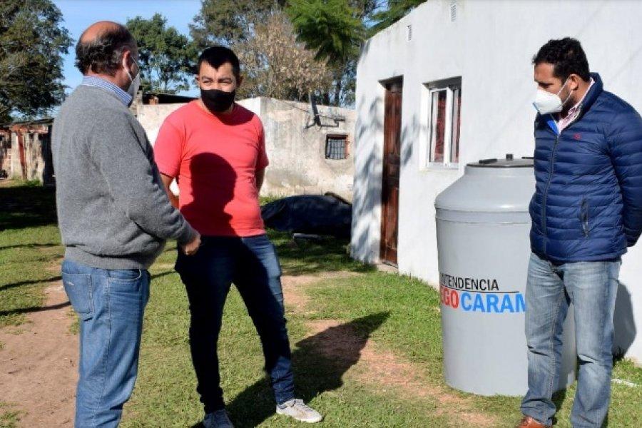 Mercedes: Entregan tanques de agua potable