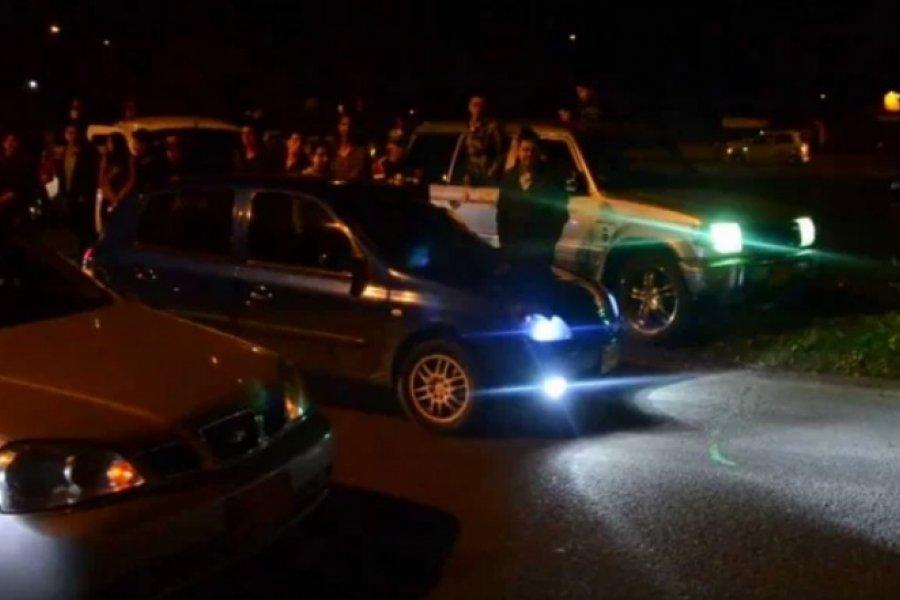 Carreras clandestinas: Ocho personas detenidas y vehículos secuestrados