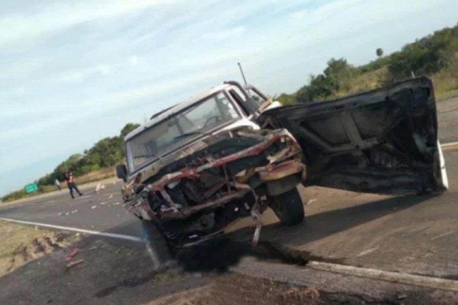 Casi termina en tragedia otra fuerte colisión en la Ruta 12