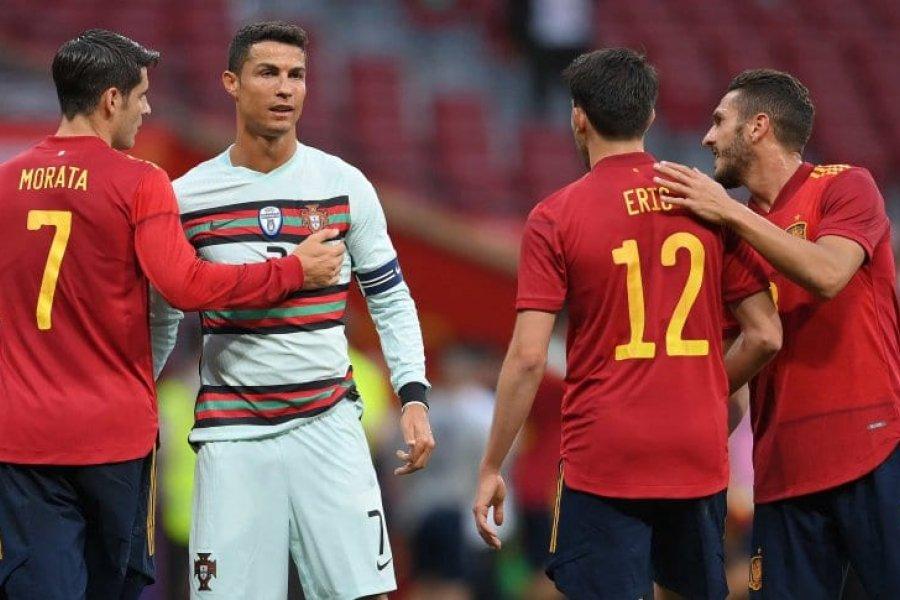 España y Portugal igualaron en Madrid con la presencia del público