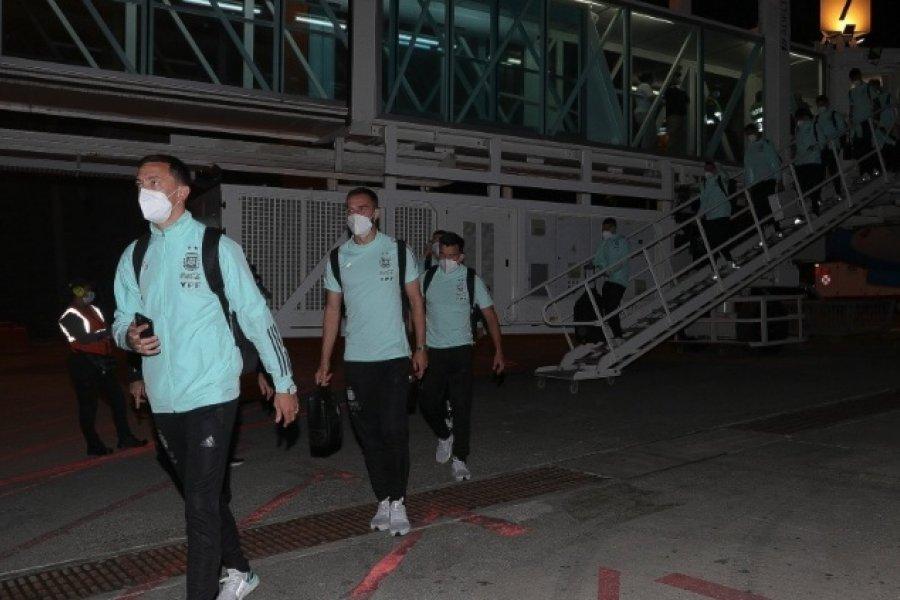 El seleccionado argentino llegó a Barranquilla para enfrentar a Colombia