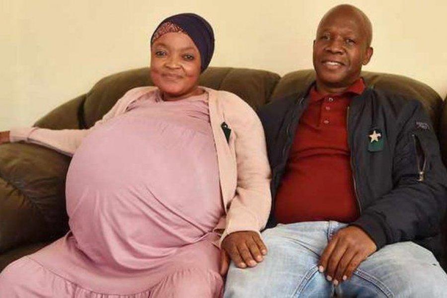 Parto récord en Sudáfrica: mujer dio a luz a 10 niños