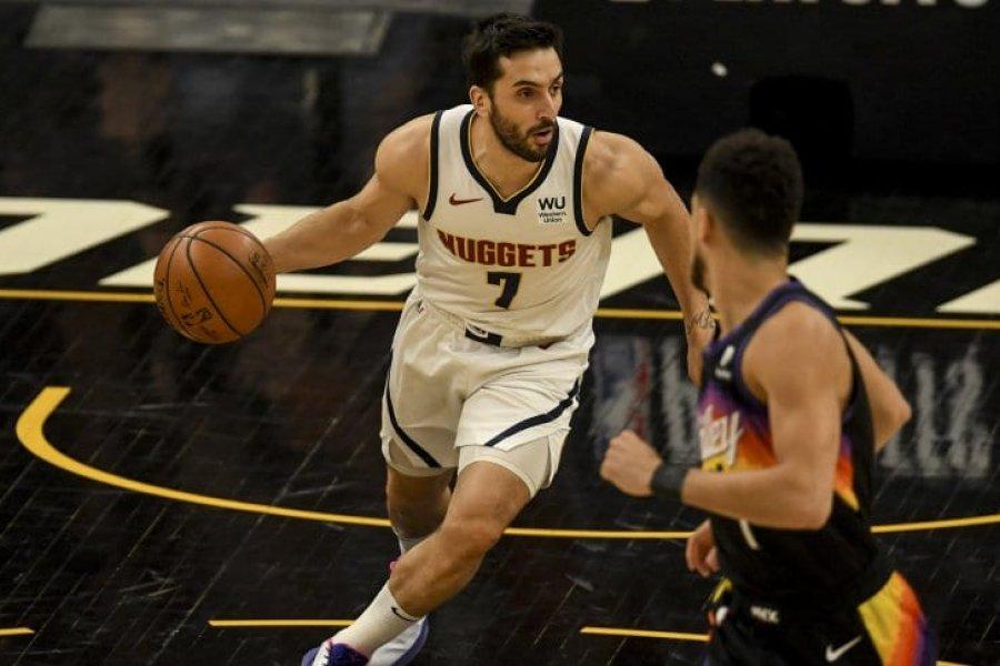Con Campazzo, Denver Nuggets cayó ante Suns en el Juego 1 de los NBA Playoffs