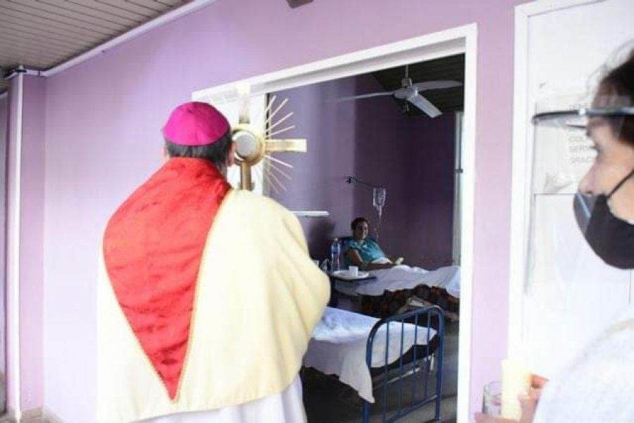 Misa y bendición con el Santísimo en el Hospital Regional de Goya