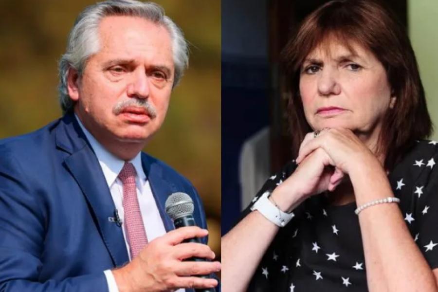 Demanda de Alberto Fernández a Patricia Bullrich: La mediación será el viernes