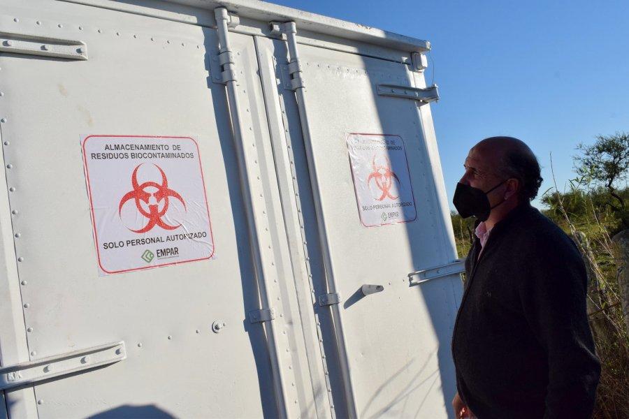 Llegó a Mercedes un nuevo contenedor de almacenamiento para residuos patológicos
