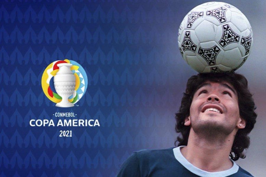 El impresionante homenaje de la Conmebol para Diego Maradona